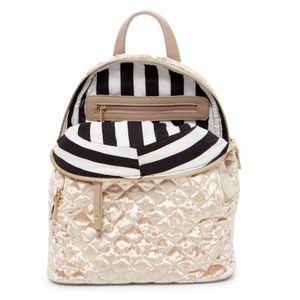 Urban Expression Quilted Velvet Mini Backpack